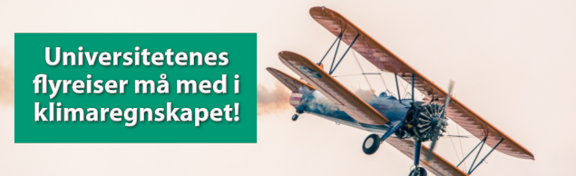Fly røyk Universitetenes flyreiser klimaregnskap